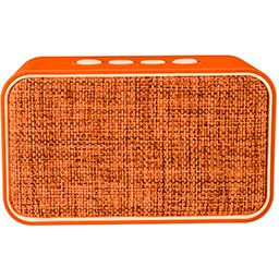 Altavoz Swiss+go Bluetooth Portatil - CLIO BT-003 Naranja 2x3w, FM, MicroSD, USB, Funcion manos libres, 135x80x50 mm