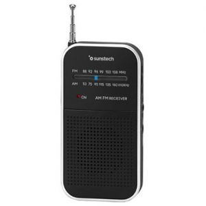Sunstech Radio portatil RPS44SL, Negro