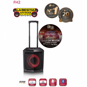 Microcadena LG ALTAVOZ FH2 TROLEY 50W BLUETOOTH