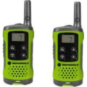 Walkie Talkie Motorola TLKR-T41 two-way radios 8 canales 446 MHz Verde