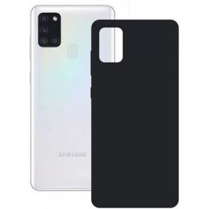 Contact L-FUNDA SILK GALAXY A21S NEGRA KSIX